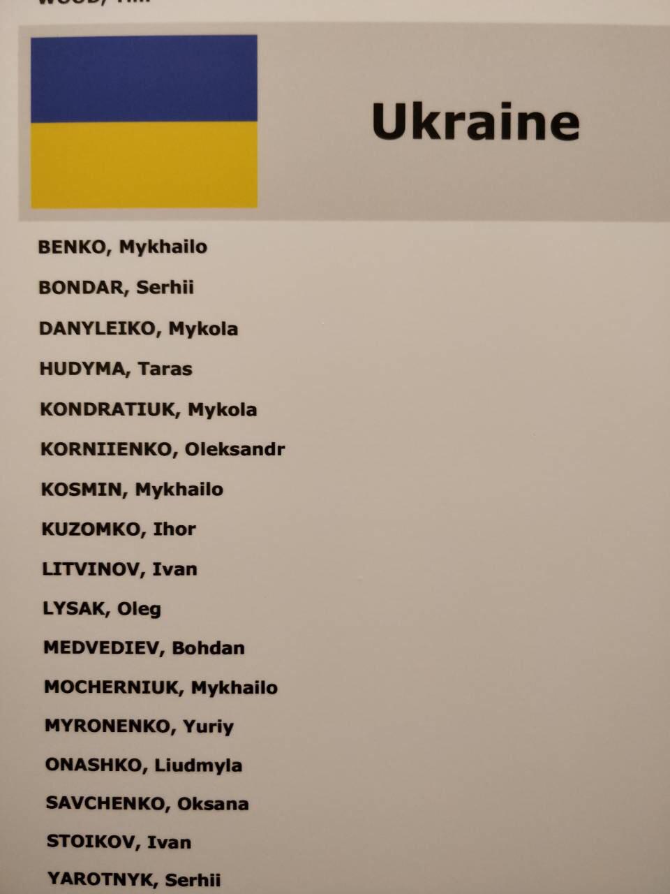 Делегация Украины