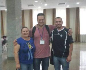 А.В.Пащенко, А.В. Албул (г. СПБ) и А.А.Бережной, хирургическая конференция, г. Сумы