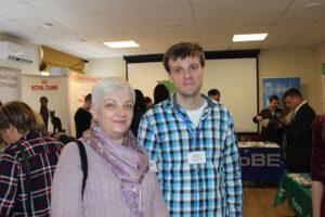 Р.И.Кальницкая и С.В.Коняев, конференция г. Сумы
