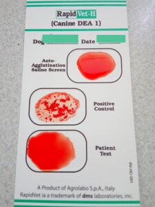тест агролабо на группу крови собак